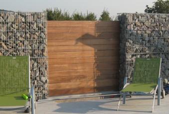 Solution pour se protéger du vis-à-vis : Les gabions