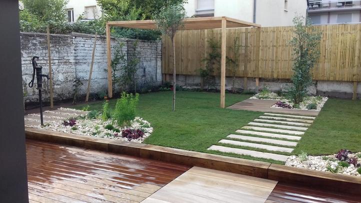 Chantier du mois de septembre 2018 – aménagement d'un petit jardin de ville à Schiltigheim