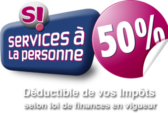 50 % de déduction fiscale grâce au Service à la Personne !