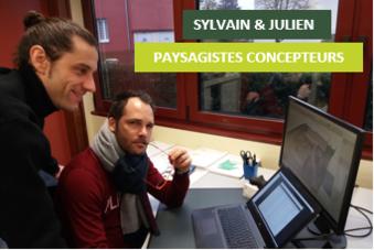 Sylvain et Julien – Concepteurs paysagistes – Les portraits du mois de Janvier