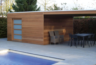 Les abris bois sous multiples solutions d'agencement