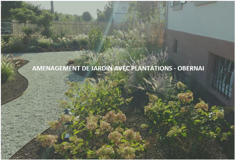 AMENAGEMENT DE JARDIN AVEC PLATATIONS – OBERNAI